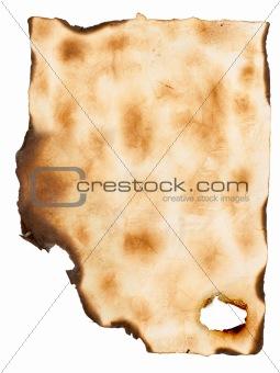 grunge burnt paper