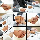 Hands of businesspeople