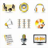 music symbols.