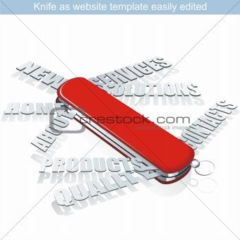 Knife as webpage.