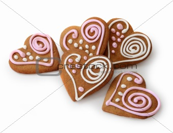 Heart shape ginger breads