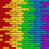 Rainbow wall