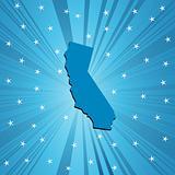 Blue California map