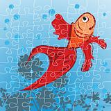 Red fish puzzle