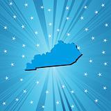 Blue Kentucky map