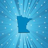 Blue Minnesota map