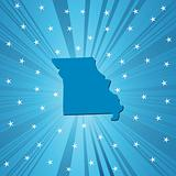 Blue Missouri map