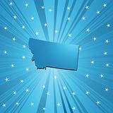 Blue Montana map