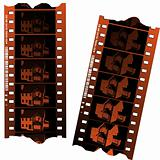 Negative film strips 