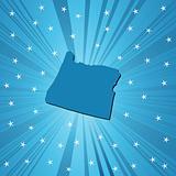 Blue Oregon map
