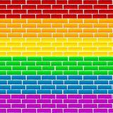 Rainbow wall
