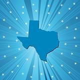 Blue Texas map