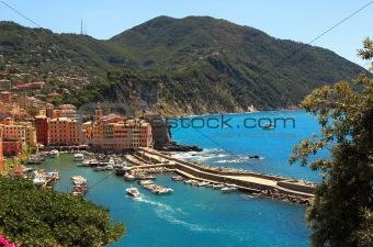 Small italian town on Mediterranean Sea.