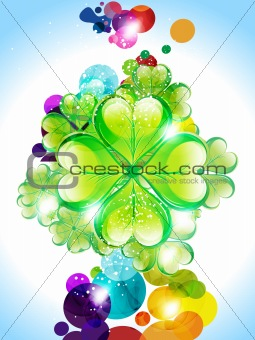 Abstract colorful Saint Patrick's Day background