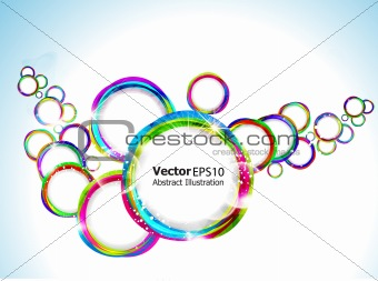 abstract colorful circular background