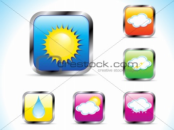 abstract weather button icon