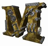 steampunk letter m