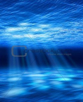Light beams underwater