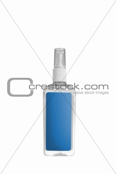blue spray