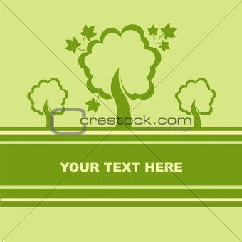 autumn trees card