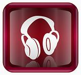 headphones icon red