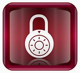 Lock off icon red