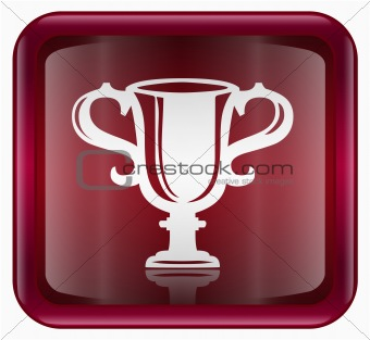 Cup icon dark red, isolated on white background.