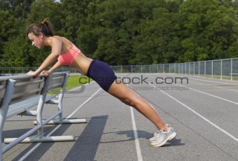 Brunette Athlete on Track