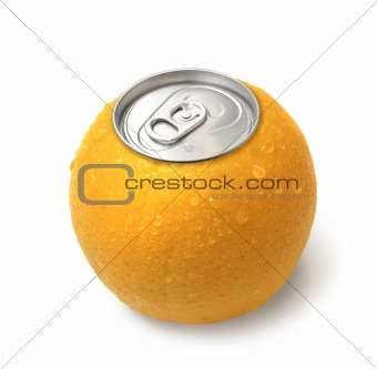 Canned orange juice