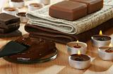Sensuality spa chocolate aromatherapy items.
