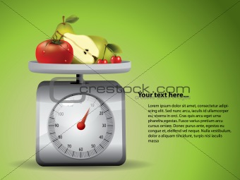 Kitchen Scale with fruits
