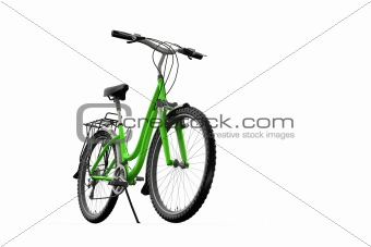 3D mountain bike on a white background