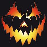 Halloween background. Scary pumpkin.