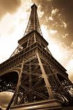 Vintage picture of the eiffel tower