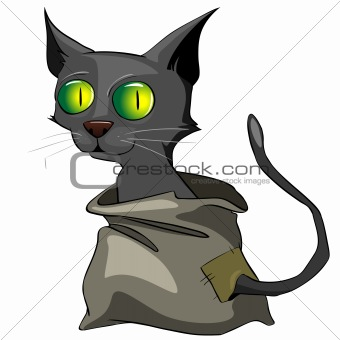 Cartoons_0010_Cat_Vector_