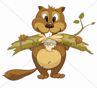 Cartoons_0004_Beaver_Vector