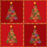 Christmas tree seamless mosaic