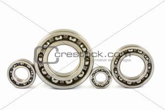 Four steel ball bearings