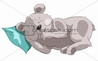 Cartoons_0003_Bear_Vector