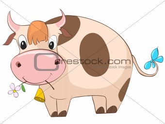 Cartoons_0016_Cow_Vector