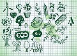 green bio icons