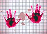 red childern hands
