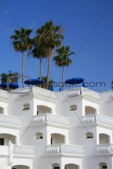 Tropical resort holiday villas