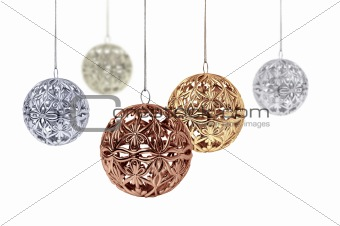 Shiny metal Christmas balls