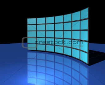 Widescreen monitor wall