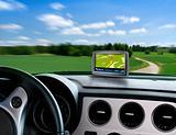 Gps auto navigator in car