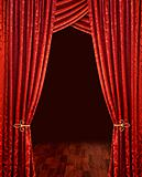 Crimson red theatre curtains