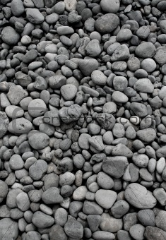 Grey pebble stones