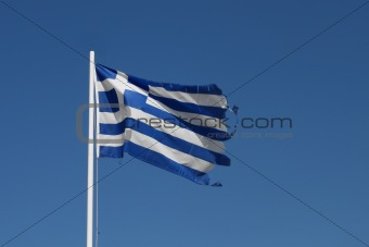 Ragged Greek flag