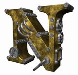 steampunk letter n